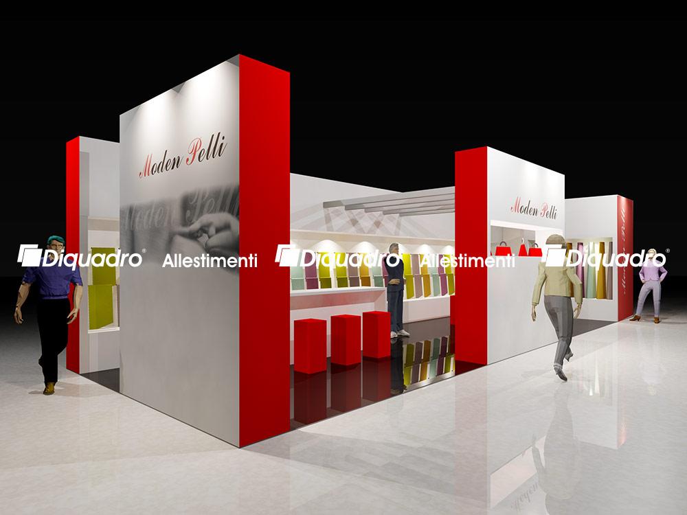 Progettazione stand fieristici allestimenti fieristici Lineapelle Milano
